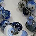 Ketting glaskralen [werk cursist]
