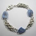 Zilveren ringen armband: Astrid