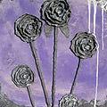 Bloemenvaas op canvas