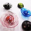 Ringtops in glas [werk cursist]