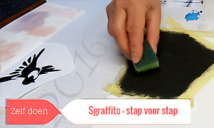 Sgraffito stap-voor-stap