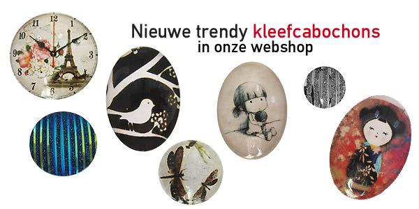 Trendy kleefcabochons bij zandstormshop.com